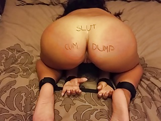 Wife tied up spanked and tickled then fucked BDSM