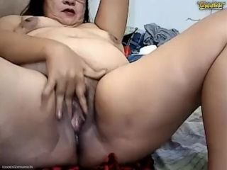 Pinay Granny Fingers Cunt botheration Squirts ATM Pees Vomits chiefly Chaturbate
