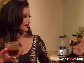 Duo steams things up in the showers before appointment other swingers