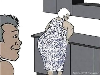 Ebony grandmother luving assfucking! Animation animation!