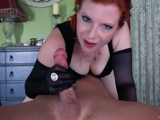 Wanking Your nutsack - jizz in throat deep throat