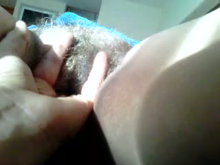 My wife's hairy pussy is disgusting but I love playing with her pussy