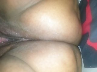 My black buddy greedily eats out juicy wet coochie of his wifey