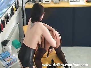 Amateur slut fist fucked five times in her ass