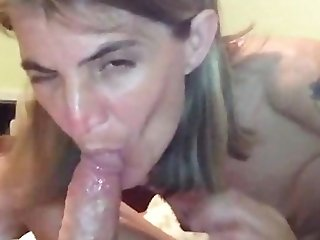 skinny wife oral creampie