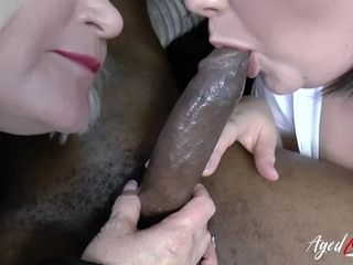 AgedLovE huge-boobed motel Maid Lacey Starr three-way