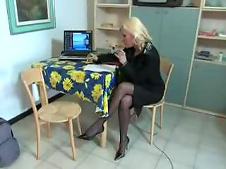 Horny Italian Teacher Fucked &am...