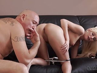 Father4K. Smoothly-shaven father opens up divine platinum-blonde Candee Licious..
