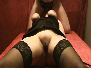 Spanking pussy & sucking cock