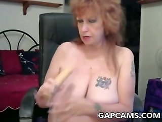 Amateur Granny webcam show