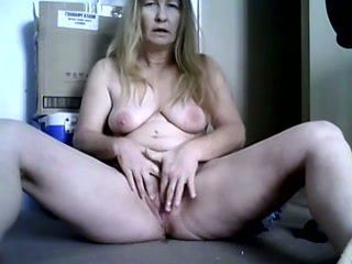 My blonde ex wife entertains herself by fingering her cunt
