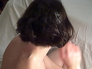 Cum on Wife's Hair