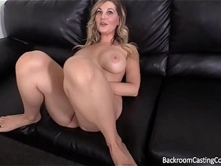 Good-sized mammories cougar pulverized In The culo on audition sofa