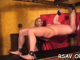 Hard-core s&m act as breasty bi-atch get bounded cock-squeezing