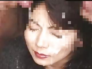 Asian MILF Bukkake (censored)