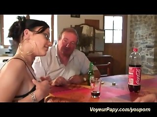 voyeur papy in threesome