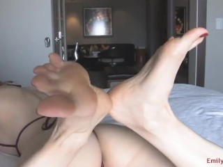 Buxomy cougar soles taunt