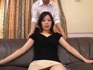 Hitting Oriental wifey flashes off her adorable bra-stuffers and her