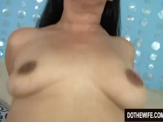 Simple Housewife Nadia Blu Gets a firm tearing up in Her gullet and gash