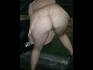 Yam-sized sandy-haired phat ass white girl mega-slut dirty dances delicious bootie Outside Of camper ♠