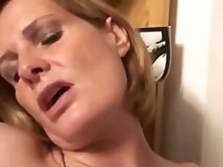 Hot Married Wife & Mom Enjoys Fucking With The Young Owner Of A Sex Store!