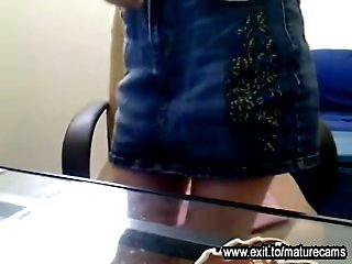 my secret webcam solo in the office