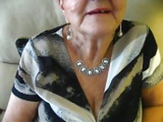 80 yr senior grandmother bosom