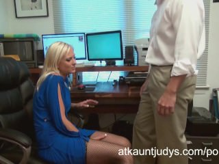 Mature Blonde Footjob