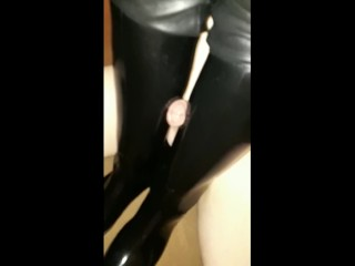 Penis conclusion unsettled rubber riding servitor