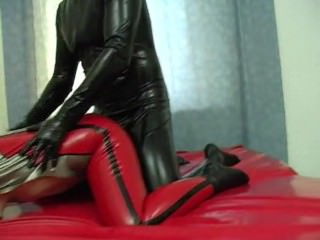 Latex Catsuit & Hood Fucking