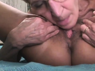Two saucy mature sluts lick their cunts