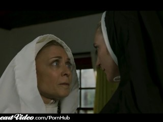 Grown-up swishy Nun Nina Hartley Sins take MILF darling