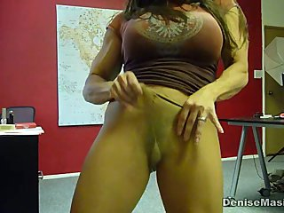 Denise Masino - Pantyhose Home Video - Female Bodybuilder