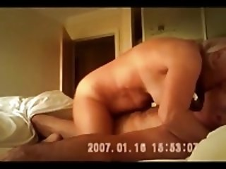 Mature riding cock in fast motion