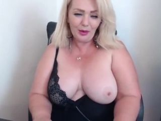 Grandma playthings on webcam