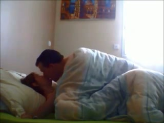 My sleepy wife is fucked missionary style early in the morning