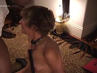 Blonde horny wife gets rammed hard from bbc