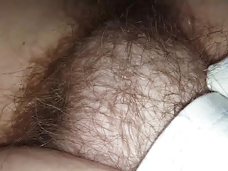 wifes sexy soft unaware hairy pussy under the sheets