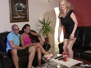 Emperor Czech GF fucks beamy confidential flaxen-haired mother