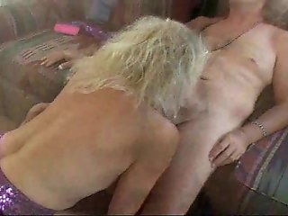 Mature deepthroating and slurping on hard cock