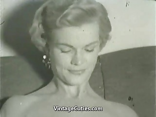 Blonde Undresses in Her Apartment (1950s Vintage)
